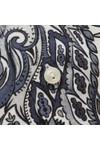 Eton Mens Grey Large Floral Pattern Shirt
