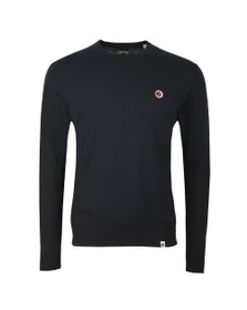 Pretty Green Mens Black Crew Neck Knitted Jumper