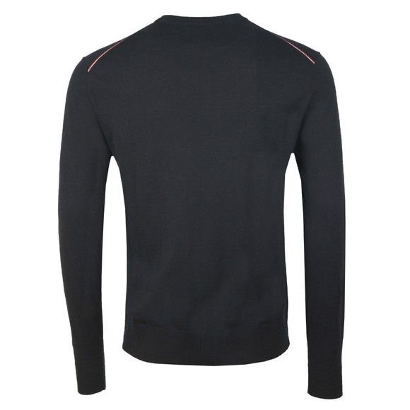 Pretty Green Mens Black Crew Neck Knitted Jumper main image