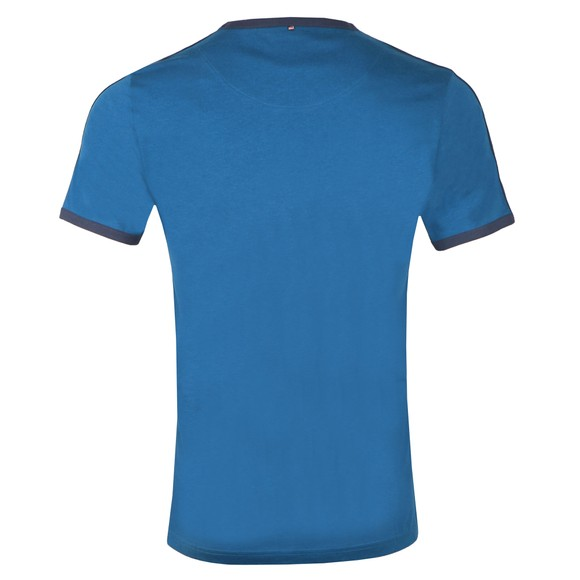 Pretty Green Mens Blue Contrast Panel T-Shirt main image