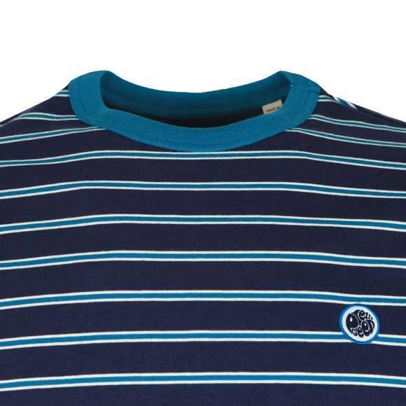 Pretty Green Mens Blue Striped T-Shirt main image