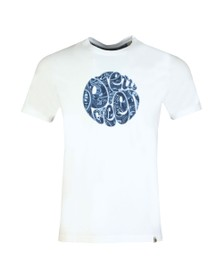 Pretty Green Mens White Paisley Applique Tee