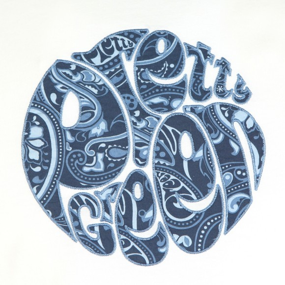 Pretty Green Mens White Paisley Applique Tee main image