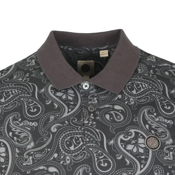 Pretty Green Mens Black Paisley Print Polo Shirt main image