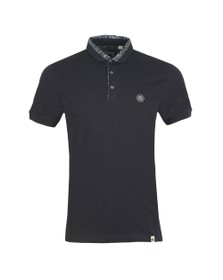 Pretty Green Mens Black Paisely Printed Collar Polo