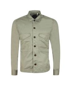 Pretty Green Mens Green Button up Overshirt