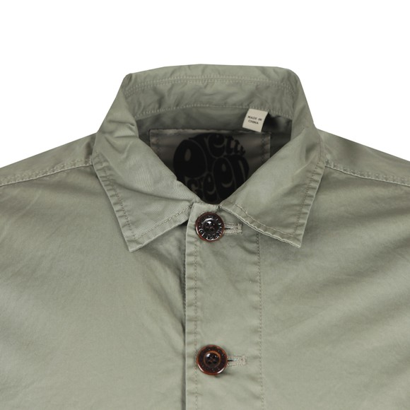 Pretty Green Mens Green Button up Overshirt main image