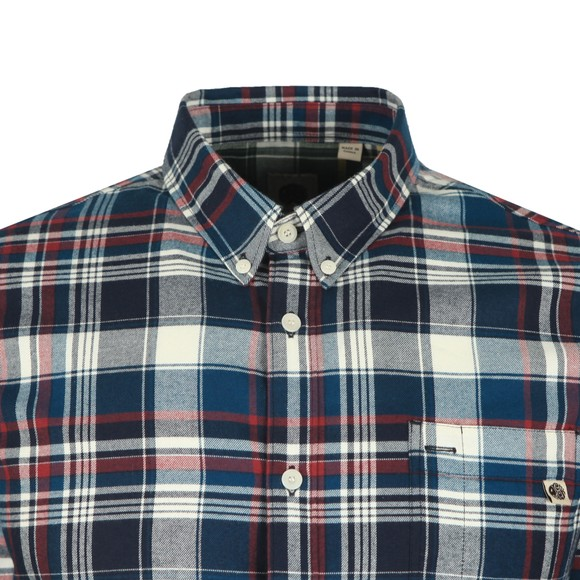 Pretty Green Mens Blue Check Shirt