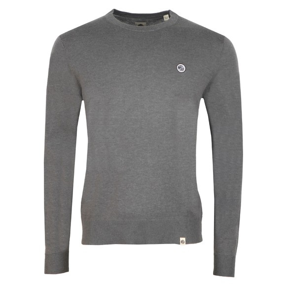 Pretty Green Mens Grey Crew Neck Knitted Jumper