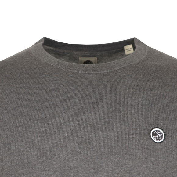 Pretty Green Mens Grey Crew Neck Knitted Jumper main image