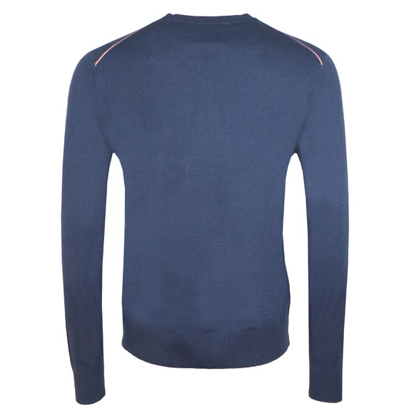 Pretty Green Mens Blue Crew Neck Knitted Jumper main image