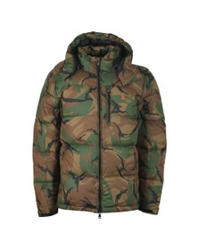 Polo Ralph Lauren Mens Grey Hooded Camo Jacket