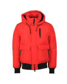 Mackage Mens Red Nathan Bomber Jacket