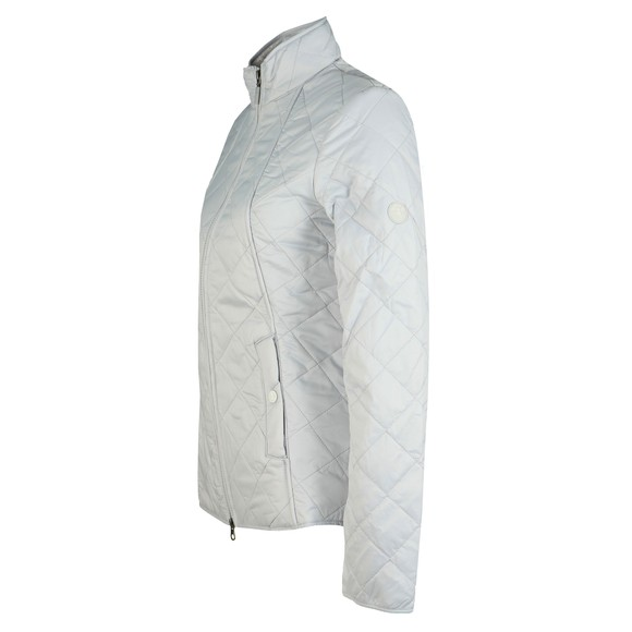 Barbour Lifestyle Womens White Backstay Quilt Jacket main image