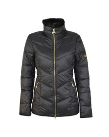 Barbour International Womens Black Nurburg Quilt Jacket