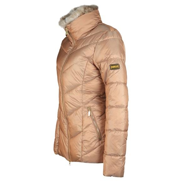 Barbour International Womens Gold Nurburg Quilt Jacket main image