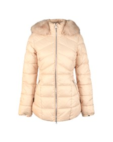 Barbour International Womens White Hampton Quilt Jacket