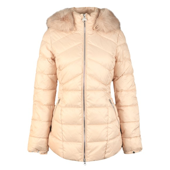 Barbour International Womens White Hampton Quilt Jacket main image