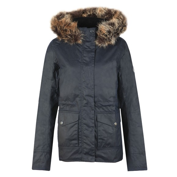 Barbour Lifestyle Womens Blue Scallop Wax Jacket