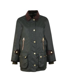 Barbour Lifestyle Womens Green Beaufort Wax Jacket