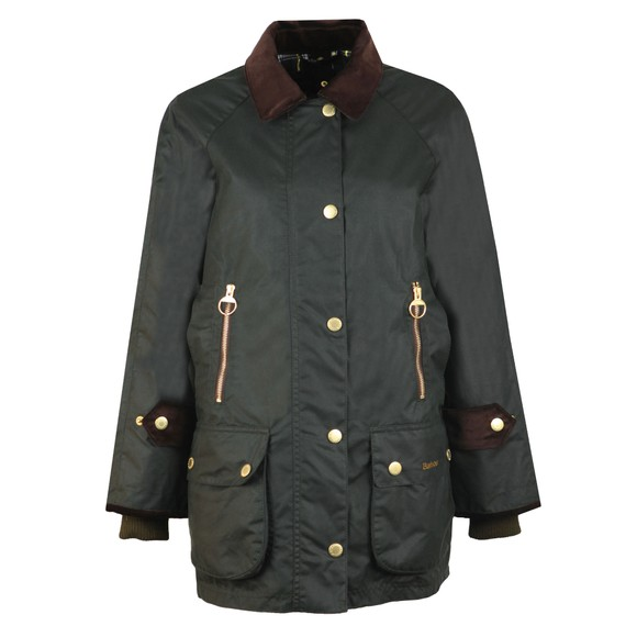 Barbour Lifestyle Womens Green Beaufort Wax Jacket main image