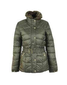 Barbour International Womens Green Circuit Quilt Jacket