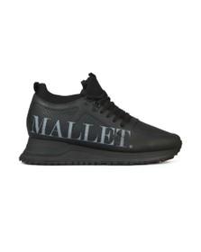 Mallet Mens Black Diver Black Print Trainer