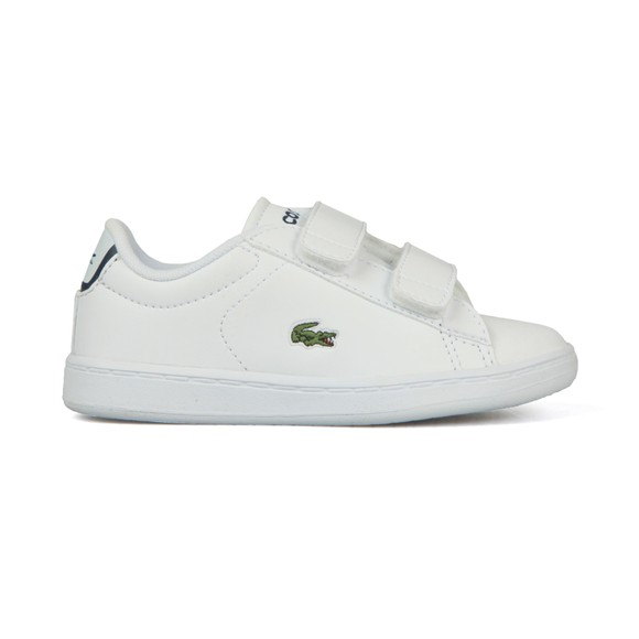 Lacoste Boys White Carnaby Evo BL1 Synthetic Trainer