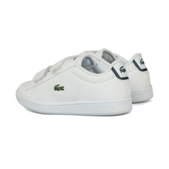 Lacoste Boys White Carnaby Evo BL1 Synthetic Trainer main image