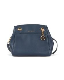 Michael Kors Womens Blue Jet Set Chain Legacy Bag
