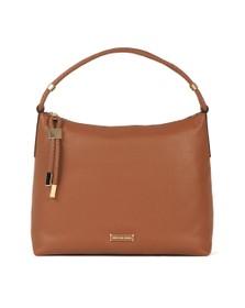 Michael Kors Womens Brown Lexington Weave Strap Bag