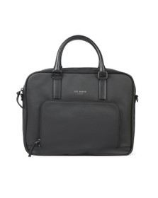 Ted Baker Mens Black Textured Document Bag