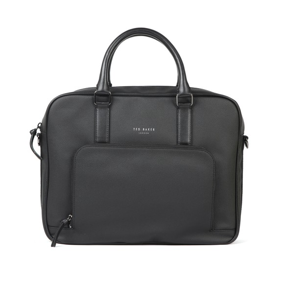 Ted Baker Mens Black Textured Document Bag main image