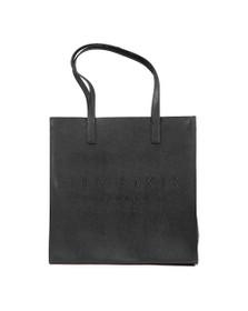 Ted Baker Womens Black Soocon Crosshatch Large Icon Bag