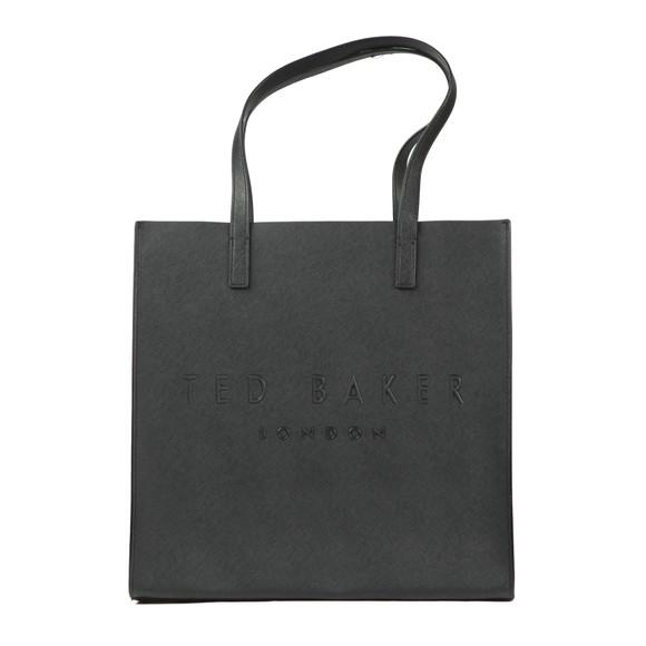 Ted Baker Womens Black Soocon Crosshatch Large Icon Bag main image