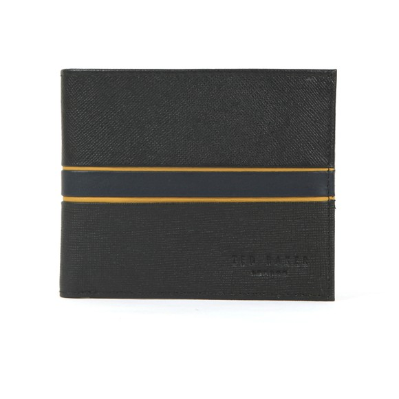Ted Baker Mens Black Block Striped Cardholder main image