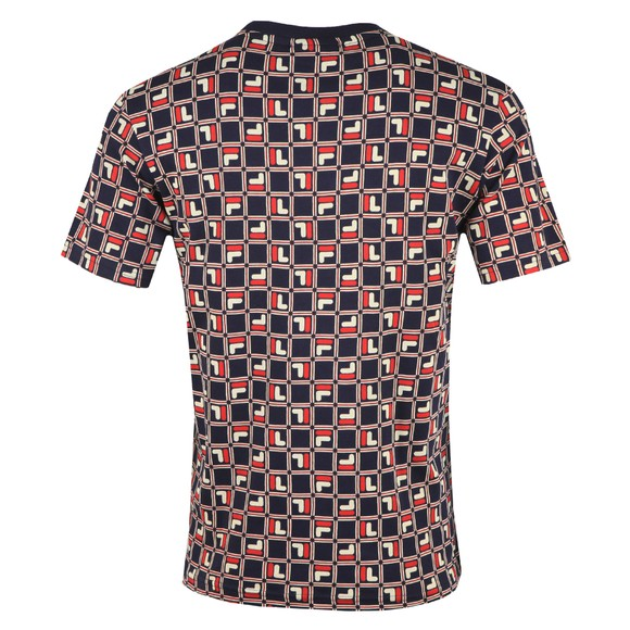 Fila Mens Blue AOP T-Shirt main image