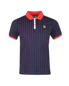 Fila Mens Blue BB1 Striped Polo
