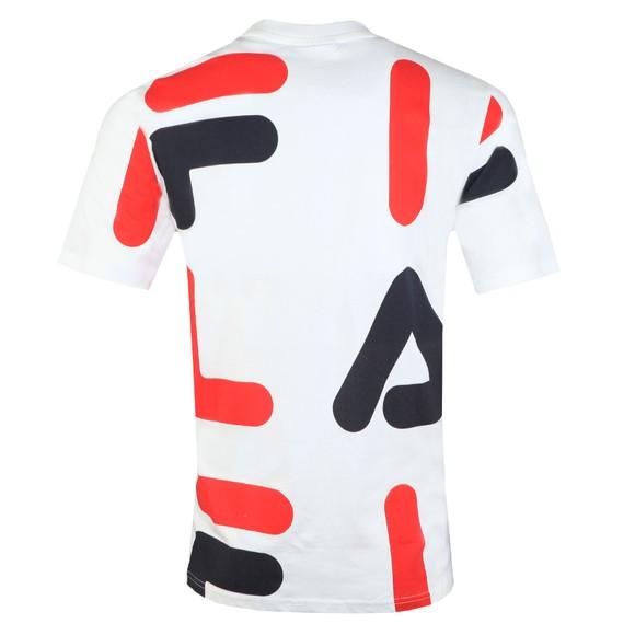 Fila Mens White AOP Print Tee main image