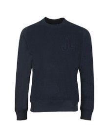 J.Lindeberg Mens Blue Sid Reverse Heavy Sweatshirt