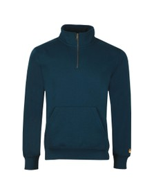 Carhartt WIP Mens Blue Chase Half Zip Sweatshirt