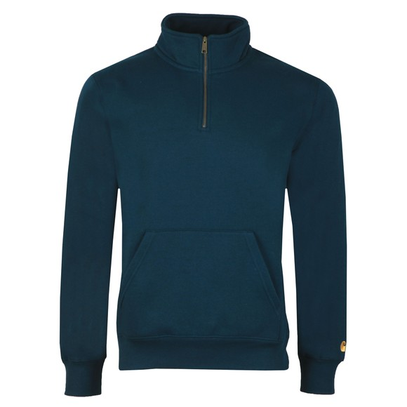 Carhartt WIP Mens Blue Chase Half Zip Sweatshirt main image