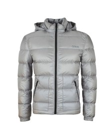 HUGO Mens Grey Balin1941 Puffer Jacket