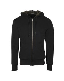 Moose Knuckles Mens Black Fleeced His Fashion Hoody