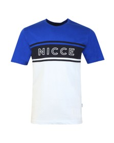 Nicce Mens Blue Panel T-Shirt