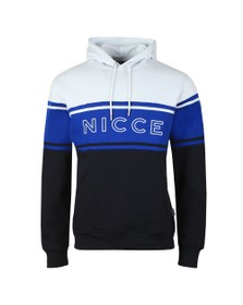 Nicce Mens Multicoloured Panel Hooded Sweat