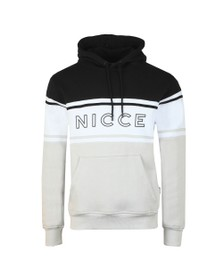 Nicce Mens Black Panel Hooded Sweat
