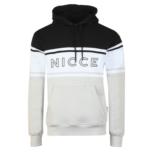 Nicce Mens Black Panel Hooded Sweat main image
