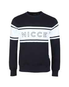 Nicce Mens Blue Panel Sweatshirt