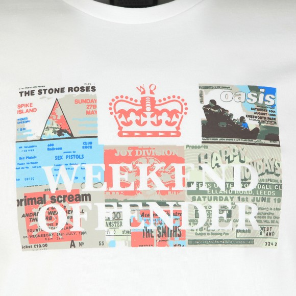 Weekend Offender Mens White Tickets T Shirt main image